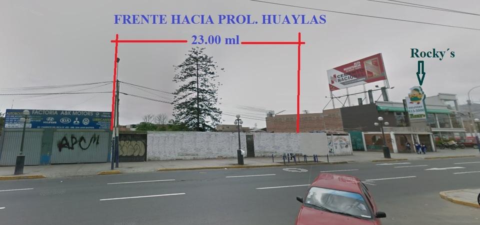 Venta de Terreno en Chorrillos, Lima 1133m2 area total - vista principal