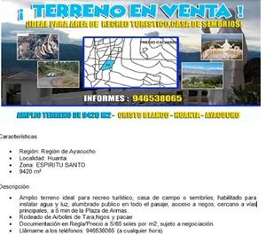 Venta de Terreno en Huanta, Ayacucho 9420m2 area total - vista principal