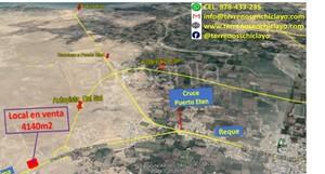 Venta de Terreno en Chiclayo, Lambayeque 4123m2 area total - vista principal