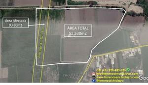 Venta de Terreno en Reque, Lambayeque 52500m2 area total - vista principal