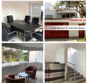 Alquiler de Oficina en San Borja, Lima con 4 baños - vista principal