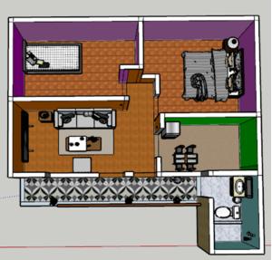 Alquiler de Departamento en Ayacucho con 2 dormitorios con 1 baño - vista principal