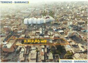 Venta de Terreno en Barranco, Lima 2113m2 area total - vista principal