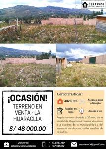Venta de Terreno en Jesus, Cajamarca 400m2 area total - vista principal