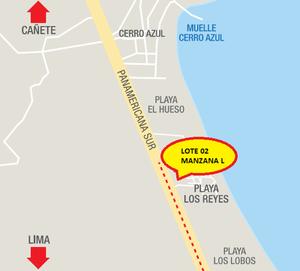 Venta de Terreno en Cerro Azul, Lima 130m2 area total - vista principal