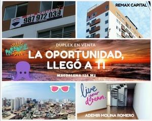 Venta de Departamento en Magdalena Del Mar, Lima 127m2 area total - vista principal