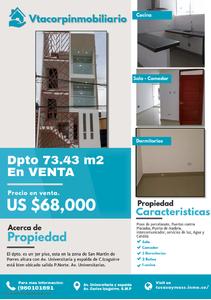 Venta de Departamento en San Martin De Porres, Lima con 3 dormitorios - vista principal