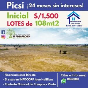 Venta de Terreno en Chiclayo, Lambayeque 108m2 area total - vista principal