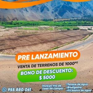 Venta de Terreno en El Algarrobal, Moquegua 1000m2 area total - vista principal