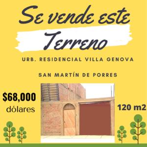 Venta de Terreno en San Martin De Porres, Lima 120m2 area total - vista principal